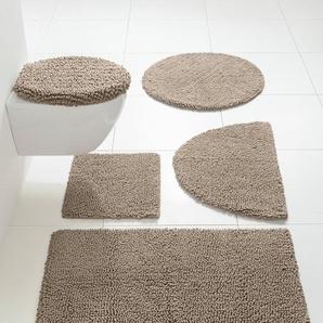 Badezimmerteppich, natur, Gr. 90/160 cm,  home, 100% Baumwolle
