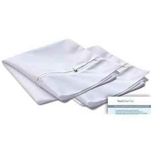 YouniClean 2 Stck. XXL Premium/Profi-Waschsack/Wäschenetz + Pflege-Tipps/besonders feinmaschig/für die Premium-Pflege von Microfaser-Textilien/kochfest/weiß / 50 x 55 cm (2 Stück 50 x 55 cm)