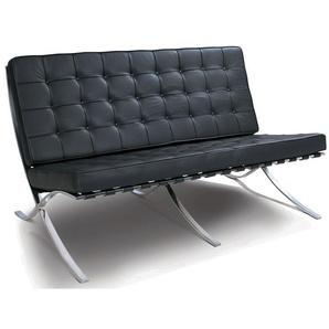 Barcelona Sofa 2 Sitzer - Schwarz