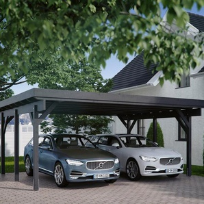 Kiehn-Holz Doppelcarport »KH 310 / KH 311«, BxT: 634x504 cm, Stahl-Dach, verschiedene Farben