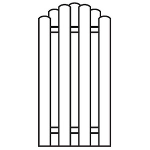 Sichtschutzzaun / Bohlenzaun-Element Bogen Holz kdi - 90x180/160cm