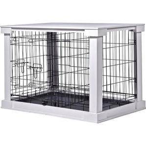Hundebox Indoor mit Tischoberfläche 83 x 55 x 59 cm Weiß
