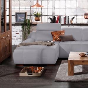 Premium Collection By Home Affaire Ecksofa »Spirit« ohne Schlaffunktion, grau, komfortabler Federkern, hoher Sitzkomfort