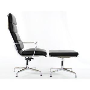 Lounge Stuhl EA222 - Schwarz
