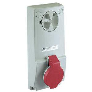SCHNEIDER ELECTRIC Anbausteckdose verriegelt, 32A, 3p+N+E, 380-415 V AC, IP44
