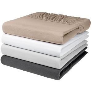 MERADISO® Jersey-Spannbettlaken, formstabil, aus reiner Bio-Baumwolle, 90-100 x 200 cm
