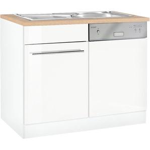 HELD MÖBEL Spülenschrank »Eton« Breite 110 cm, inkl. Tür/Sockel für Geschirrspüler, weiß