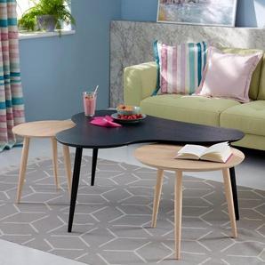 Guido Maria Kretschmer Home&living Couchtisch », in 2 unterschiedlichen Größen, Höhen, sowie drei Farben, mit runder Tischplatte«, beige, pflegeleichte Oberfläche, FSC®-zertifiziert