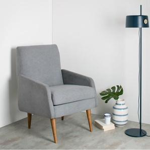 Zoom Stehlampe, Schieferblau und Messing