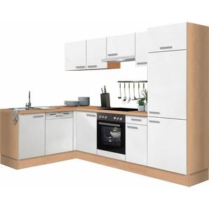 Optifit Winkelküche mit E-Geräten »Odense«, Stellbreite 275 x 175 cm