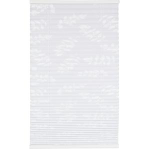 Tageslichtplissee Blüten weiß 60 x 130 cm