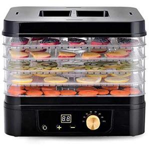 5 Tablett Essen Dehydrator, 35-70 ° C Einstellbare Thermostat Digital Timer Kommerziellen Obst Gemüse Trockner Maschine