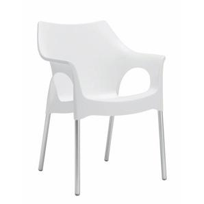 Scab Design Ola Stapelsessel Aluminium/Kunststoff Linen
