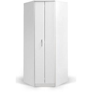 Drehtürenschrank / Eckkleiderschrank Muros 06, Farbe: Weiß - 222 x 87 x 50 cm (H x B x T)