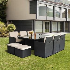 Outsunny® Polyrattan Gartenmöbel 27 tlg. Gartenset Sitzgruppe Garnitur