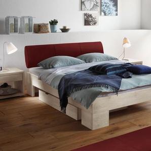 Holz-Doppelbett Prato - 140x200 cm - Wildeiche coffee