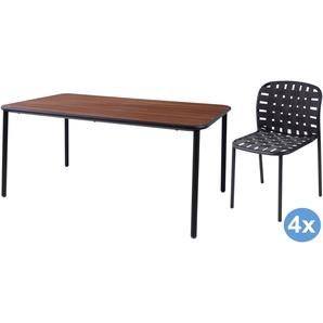 Emu Yard Ash Gartenset 160x98 Tisch   4 Stühle (chair)