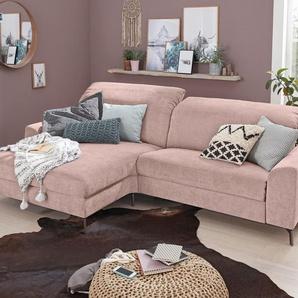 Set One By Musterring Schlafsofa »SO 5400«, rosa, 5 Jahre Hersteller-Garantie