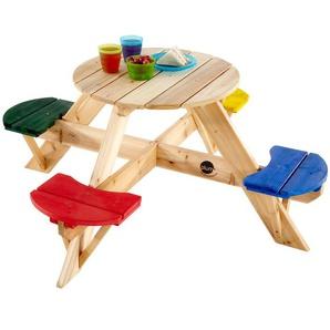 Plum® Kinder Picknicktisch mit farbigen Sitzen