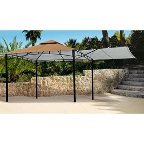 """Pavillon """"300x300 cm"""", ausklappbares Seitenteil, braun"""