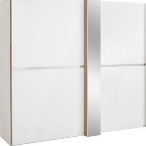 Schwebetürenschrank mit Dekorfront und Spiegel »fontana«, weiß, Breite 200, FSC®-zertifiziert, set one by Musterring