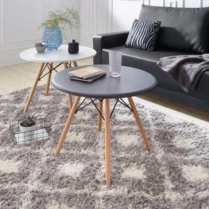 Home Affaire Couchtisch, weiß, pflegeleichte Oberfläche, Gestell aus Massiv-Holz