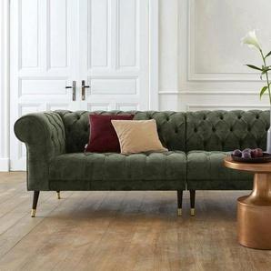 Guido Maria Kretschmer Home&Living Big-Sofa »Tinnum«, grün, Softstruktur