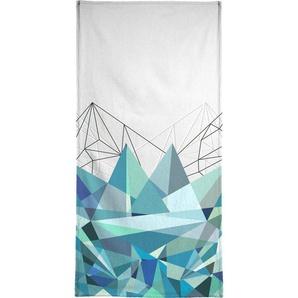 Handtuch »Colorflash 3 Turquoise«, Juniqe, Weiche Frottee-Veloursqualität