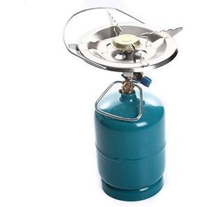rg-vertrieb Kocher Gaskocher Topfauflage einflammig Campingkocher für Gasflasche 16cm 22cm (160mm)