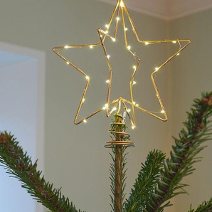 LED-Weihnachtsbaumspitze Christmas Top gold, Designer Sirius, 25x20x20 cm