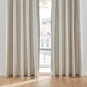 Jacquard Vorhang einfarbig (1er Pack) grau