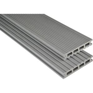 Kovalex WPC Terrassendiele Exklusiv mattiert Grau Zuschnitt 2,6x14,5x400cm