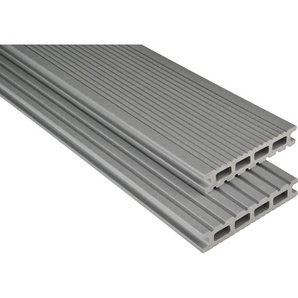 Kovalex WPC Terrassendiele Exklusiv mattiert Grau Maßanfer. 2,6x14,5x400cm