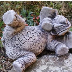 Gartenschild Welcome Elefant Lawrence