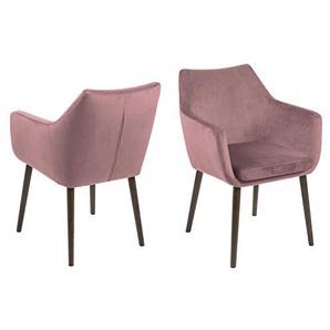 PKline Esszimmerstuhl Noel in rosa Stuhl Küchenstuhl Armlehnstuhl