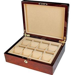 Makah Burl Holz 8Uhren Aufbewahrungsbox mit Schloss