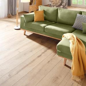 Home Affaire Ecksofa »Torino«, grün, hoher Sitzkomfort