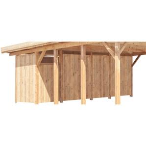 Kiehn-Holz Geräteraum BxT: 540x173 cm nur für Carport KH 103/105, grün