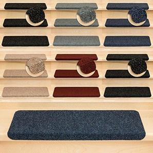 Kettelservice-Metzker Stufenmatten Treppenmatten Ramon Rechteckig - 5 Farben - 15 Stk. Blau incl. 1 Reinigungstuch