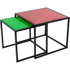 Inosign Tischplatte, rot, pflegeleichte Oberfläche