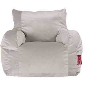 Lounge Pug®, Sitzsack Ohrensessel, Samt Silber