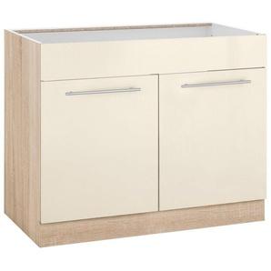 wiho Küchen Spülenschrank »Flexi2« Breite 100 cm, beige