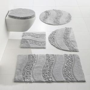 Badteppich, grau, Gr. 70/120 cm,  home, 100% Baumwolle