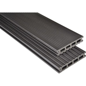 Kovalex WPC Terrassendiele Exklusiv mattiert Graubraun Zuschnitt 2,6x14,5x360cm