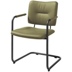 Gallery M Stuhl  Tempra M1691 ¦ grün ¦ Maße (cm): B: 56 H: 87 T: 59 Stühle  Esszimmerstühle  Esszimmerstühle mit Armlehnen » Höffner