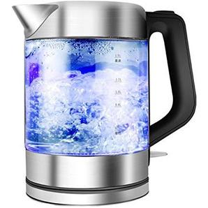 Filterreinigungskessel, Glas-Wassertopf mit LED-Beleuchtung, Trockenlaufschutz