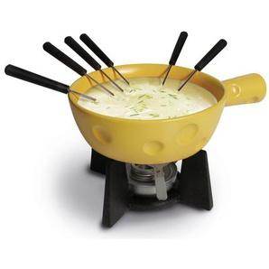 1 L Fondue-Set Super Cheesy aus Gusseisen und Keramik
