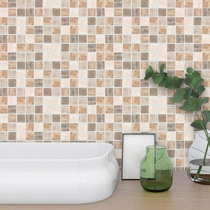 10 cm x 10 cm PVC Mosaikfliese Strängnäs