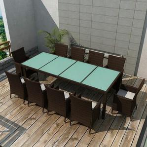 10-Sitzer Gartengarnitur Deshpande mit Polster