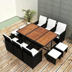 10-Sitzer Gartengarnitur Holt mit Polster